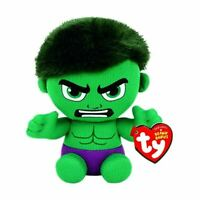 OFFICIAL TY BEANIE BABIES BOOS MARVEL COMICS HULK PLUSH SOFT TOY NEW WITH TAGS