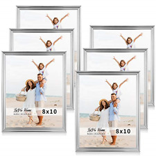 6 Pack 8x10 Picture Frames Single Photo Frame w High Definition Glass Wall Mount