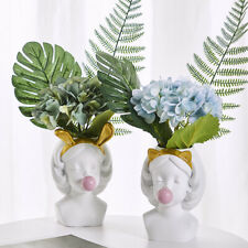 Creative Resin Flower Vase Brush Pot Birthday Gift Lively Nordic Home Decor New