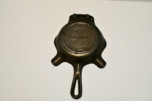 """GRISWALD Cast Iron Ashtray~Skillet Shaped """"ERIE PA."""" PN 570 """"QUALITY WARE"""" """"00"""""""