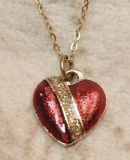 Vintage Genuine Diamond Dust Heart Necklace Marked Royal New In Package