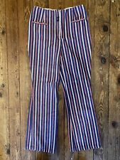Vintage Striped Denim Pants 28x28 1970s