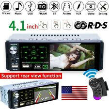 """New listing 4.1"""" 1 Din Car Stereo Radio Mp5 Bluetooth Touch Screen Rds Am Fm Usb Tf Aux In"""