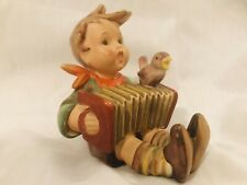 "New ListingGoebel-Hummel 110 ""Let's Sing"" Boy w/Accordion and small bird 4"" Full Bee Tmk2"