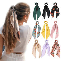 Ponytail Scarf Bow Elastic Hair Rope Ties Scrunchies Ribbon Hair Band Women's