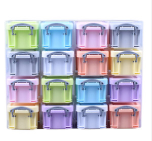 Really Useful 0.14 Litre Organiser  With 16 X 0.14 Pastel Colour Boxes