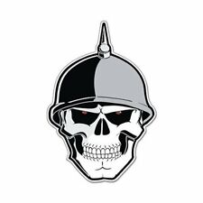 German Soldier Skull Scary War Evil Car Vinyl Sticker - SELECT SIZE
