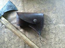 Custom Leather Tomahawk Axe Hatchet Sheath Case Hand Stitched