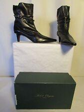 boots/bottines Robert Clergerie cuir noir et cuir noir ajouré pointure 9
