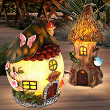 LED Solar Leuchte Baum Haus Figur Garten Beet Terrassen Design Lampe Außen Deko