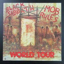 Black Sabbath 1981 Mob Rules  concert tour program