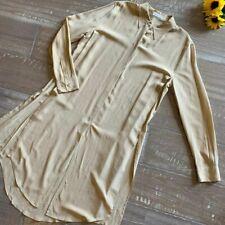 Equipment femme 100% silk long tunic top / dress - size medium