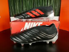 Adidas Copa 19+ FG Leather Mens Soccer Cleats Black Red F35514 Size 10.5-11