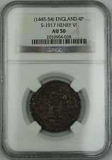 (1445-54) England Silver Groat Fourpence 4P Coin S-1917 Henry VI NGC AU-50 AKR