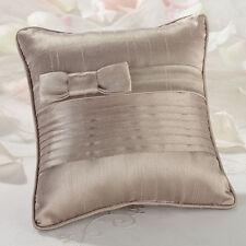 Taupe or White Pleated Ring Pillow Ring Bearer Ringbearer pillow wedding