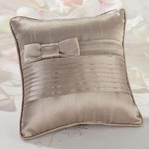 taupe or white wedding ring bearer pillow ringbearer rings pillow