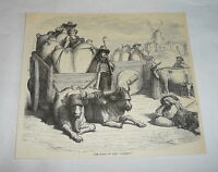 1878 magazine engraving ~ THE HALT OF THE CARROS, Spain