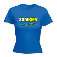 ZOMBIES EAT FLESH WOMENS T-SHIRT dead parody subway walking funny mothers day