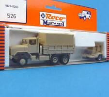 Roco Minitanks H0 526 LKW 5t M923 + M200 Generator Anhänger US Army HO 1:87 OVP