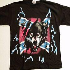 Brazo's Sportswear, Rebel Wolf Adult T-Shirt (X-Large) #2-1 New