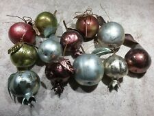 LOT OF 12 ARTIFICIAL LIFESIZE FRUIT ORNAMENTS - PEARS, APPLES, POMEGRANATES