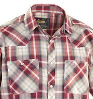 Guide Gear Plaid Western Men's Shirt, Red, Sizes M, L, XL 2XL