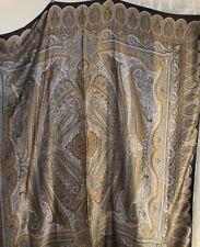 "Estate BRIONI Italy Amazing HUGE Silk Art-to-Wear 54"" Paisley Shawl Wrap Scarf"