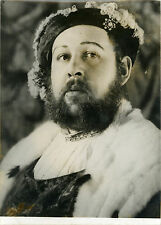 """Charles LAUGHTON (HENRY VIII)"" Photo originale (Robert COHEN - AGIP 2/10/1962)"