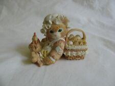 "Enesco Calico Kittens ""Friendship is the Best Blessing"" Cat & Hen Figurine"