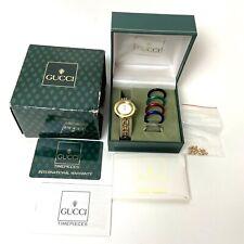 Authentic Vintage Gucci 11/12.2 Womens Watch 5 Color Interchangeable Bezels