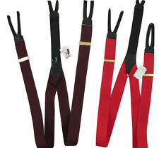 NEW! Burberry Vintage Colorful Suspenders (Braces)!   *Green or Burgundy*
