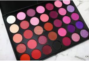 Crush Cosmetics 35P Purples Pinks Reds Black Eyeshadow Palette 56.2g discontinue