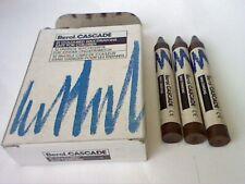 More details for 1 x 12 berol cascade vintage waterproof wax crayons brown-vintage england