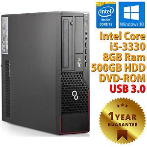 PC COMPUTER DESKTOP RICONDIZIONATO E710 CORE i5-3330 RAM 8GB HDD 500GB WIN 10