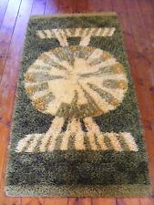 Danish Vintage 60s WITTRUP RYA Wool Rug Shag Wall Carpet MID CENTURY MODERN EGE