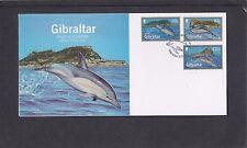 Gibraltar 2014 Dolphins First Day Cover FDC Gibraltar special pmk