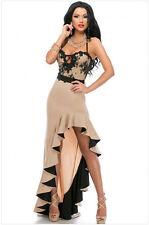 Vestito da donna abito lungo vestitino damigella cerimonia elegante party ballo