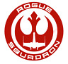 Rogue Squadron Emblem Vinyl Decal Window Sticker Car