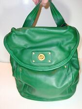 Marc Jacobs Green Leather Backpack/Crossbody Bag w/Turnlock Opening
