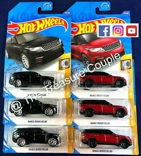 Hot Wheels - Lot of 6 - RANGE ROVER VELAR - 2 Colors - Red & Black - F64