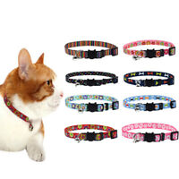 Cat Collar Bell Safety Buckle Adjustable Kitten Small Dogs Cats Printing Collars