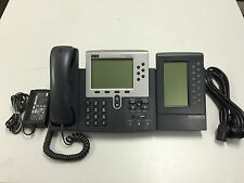 Cisco CP-7960G IP Phone + CP-7914 Expansion + Power Supply + CP-SINGLFOOTSTAND