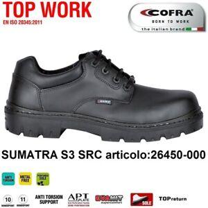 SCARPE ANTINFORTUNISTICA COFRA SUMATRA S3 SRC pelle fiore idrorepel metal free +