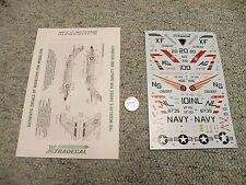 Xtradecal decals 1/72 XO27-72 USN F3 Demons VX-4 VF-122 -151 -41 1957   M165
