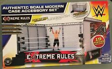 Wwe AUTHENTIC SCALE Modern Cage Accessory Set EXTREME RULES CENA EDITION SEALED!