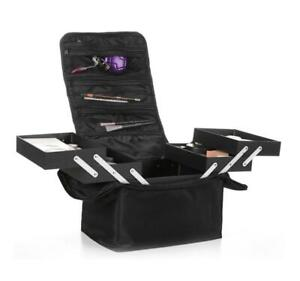 Professional Double Layer Makeup Storage Jewelry Case Cosmetic Organizer Box