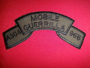 Vietnam War Subdued Scroll Patch A304 MOBILE GUERRILLA 966