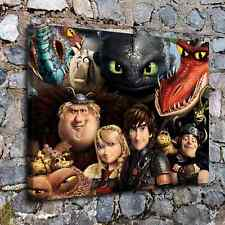 A4-How to train your dragon Home Decor HD Canvas Print Picture Wall Art Painting