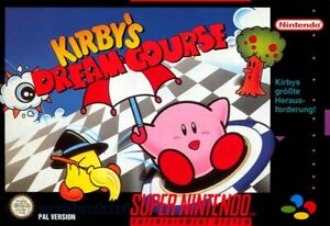 Nintendo SNES game Kirby's Dream Course boxed