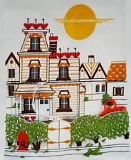 Victorian House Wall Organizer Vintage Columbia Minerva Crewel Embroidery Kit